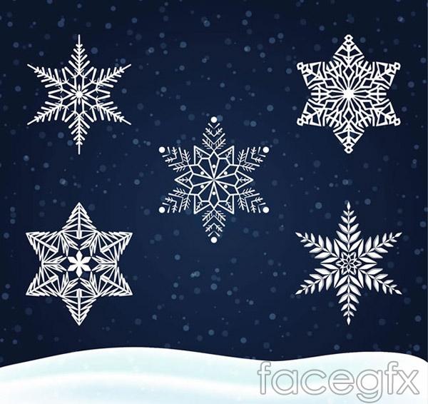 White Snowflake vector