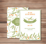 Berries wedding invitation cards vector