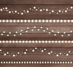 Bright holiday lights string vector