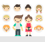 Cartoon characters and avatars vector