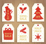 Christmas discount tag vector
