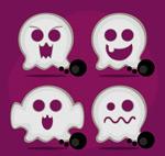 Halloween ghost white vector