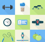 Icon fitness products vector