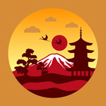 Japan landscape Illustrator vector
