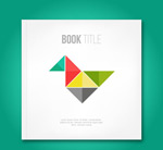 Tangram decorating books vector