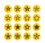 The yellow star icon vector