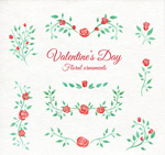 Valentine's day rose lace vector