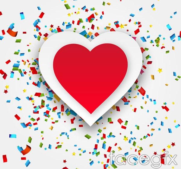 Love and confetti vector
