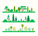 Natural trees landscape vector
