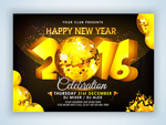 New year's Eve party invitations vector