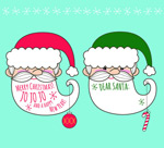 Santa Claus avatars vector
