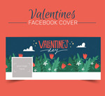 Valentine's day flower cover vector